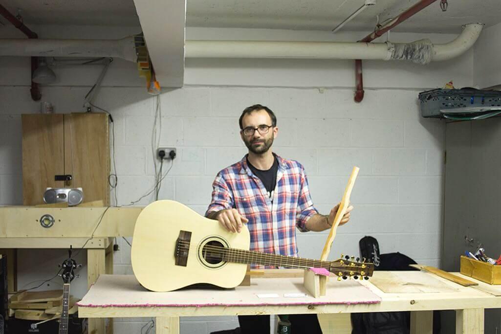 Cork Guitars - Brian at his workshop