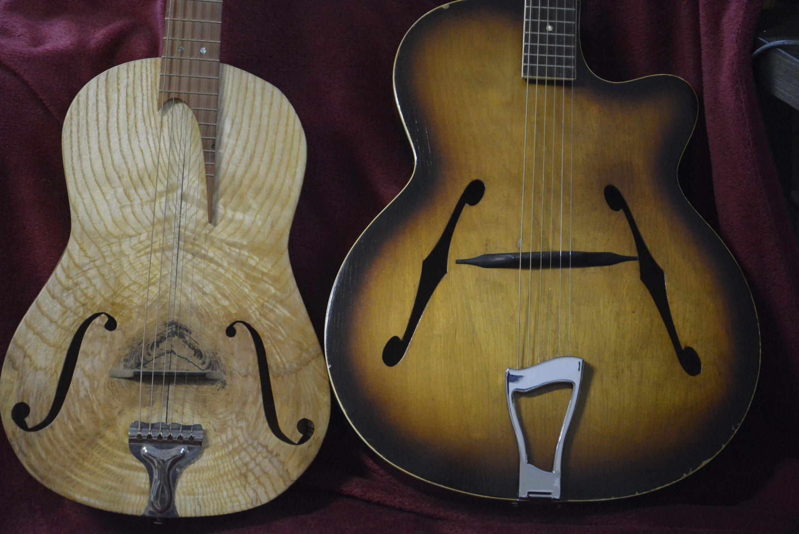 Cork Guitars - repair work - two instruments